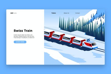 Swiss Train - Banner & Landing Page