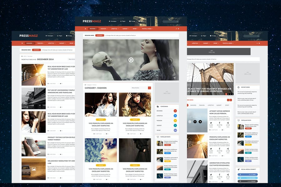 PressMagz - News & Magazine Website PSD Template