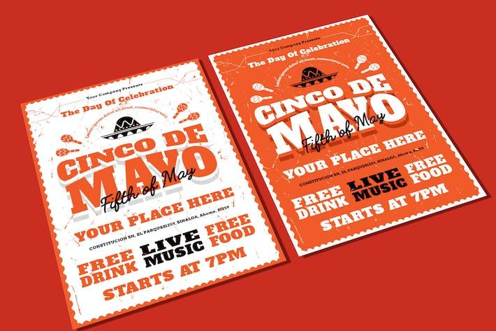 Cinco De Mayo Typograph Flyer