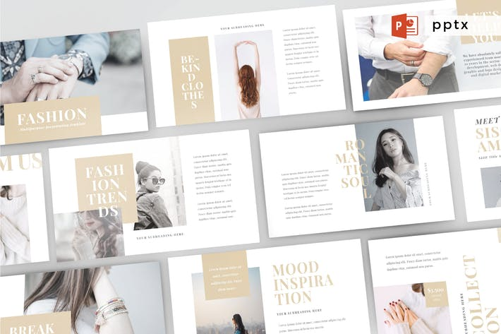 Thumbnail for FASHION - Multipurpose Powerpoint Template V60