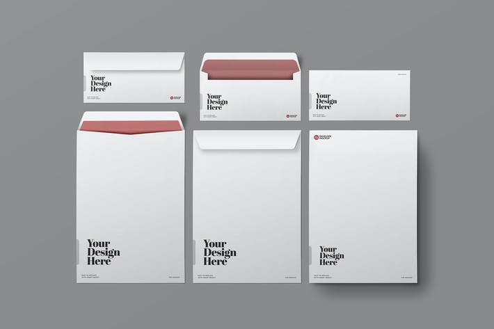 Thumbnail for DL & C4 Envelopes Mockup
