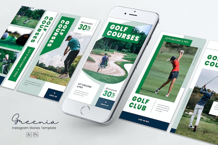 Thumbnail for Golf Competition Instagram Stories PSD & AI