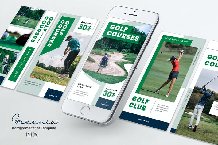 Thumbnail for Golfwettbewerb Instagram Stories PSD & AI