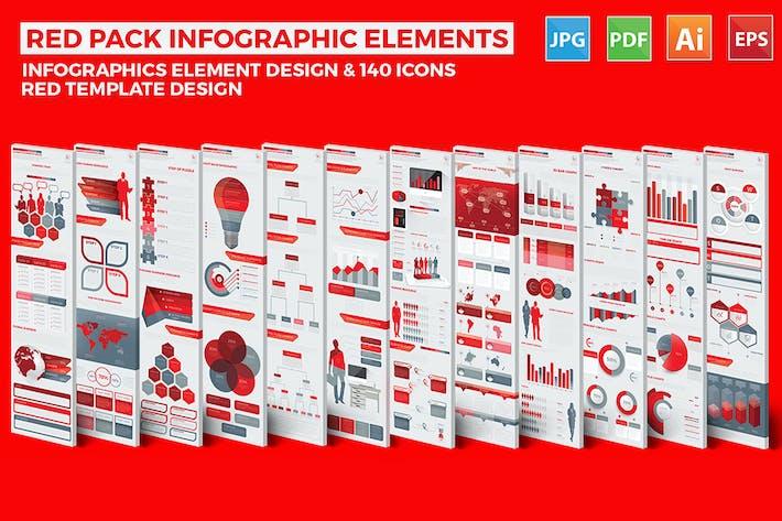 Thumbnail for Red Pack Infografiken Design
