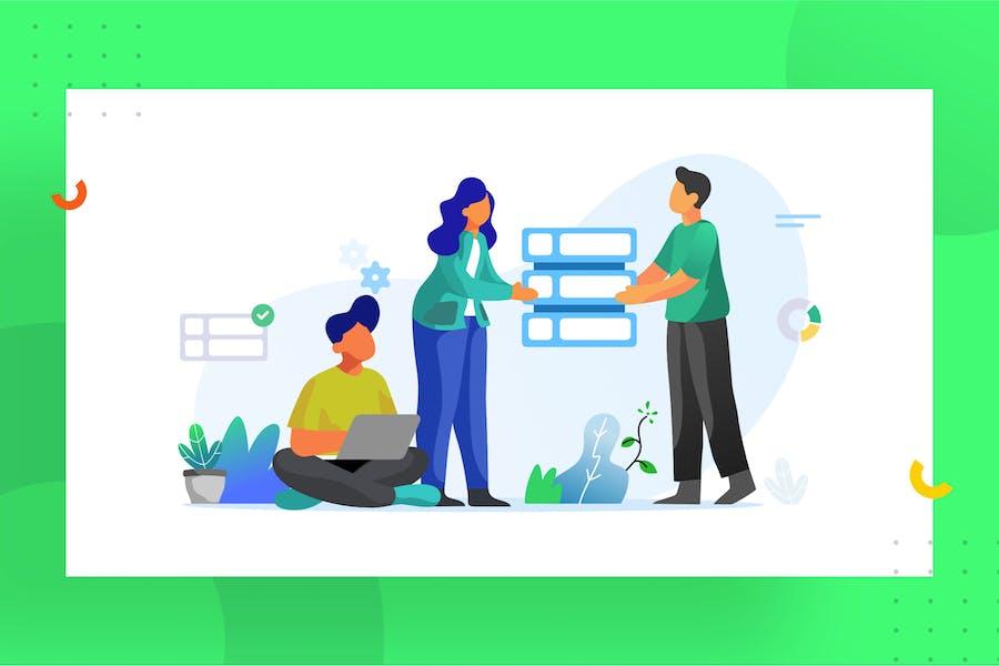Teamwork illustration for website 1.7