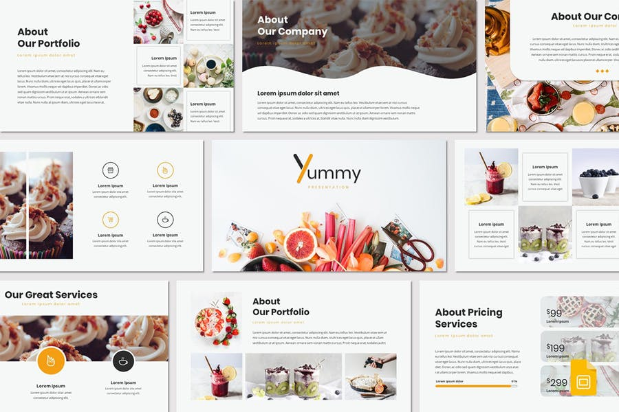 Yummy - Google Slides Template