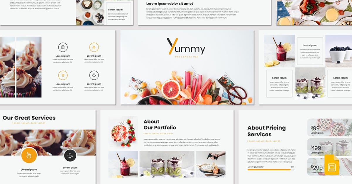 Download Yummy - Google Slides Template by Unknow
