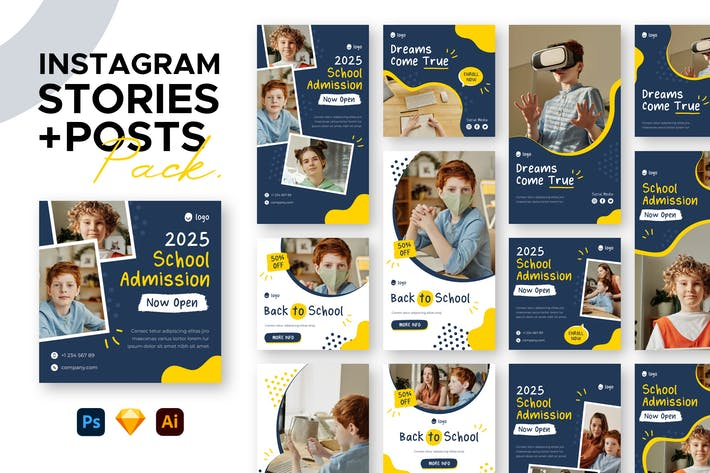 Thumbnail for Education Instagram Stories + Posts