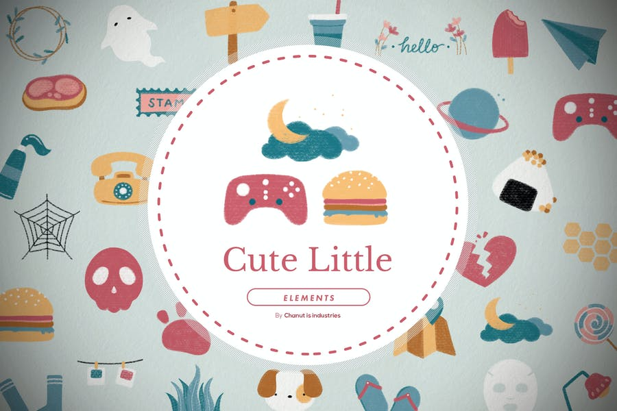 30 Cute little clipart and elements V3