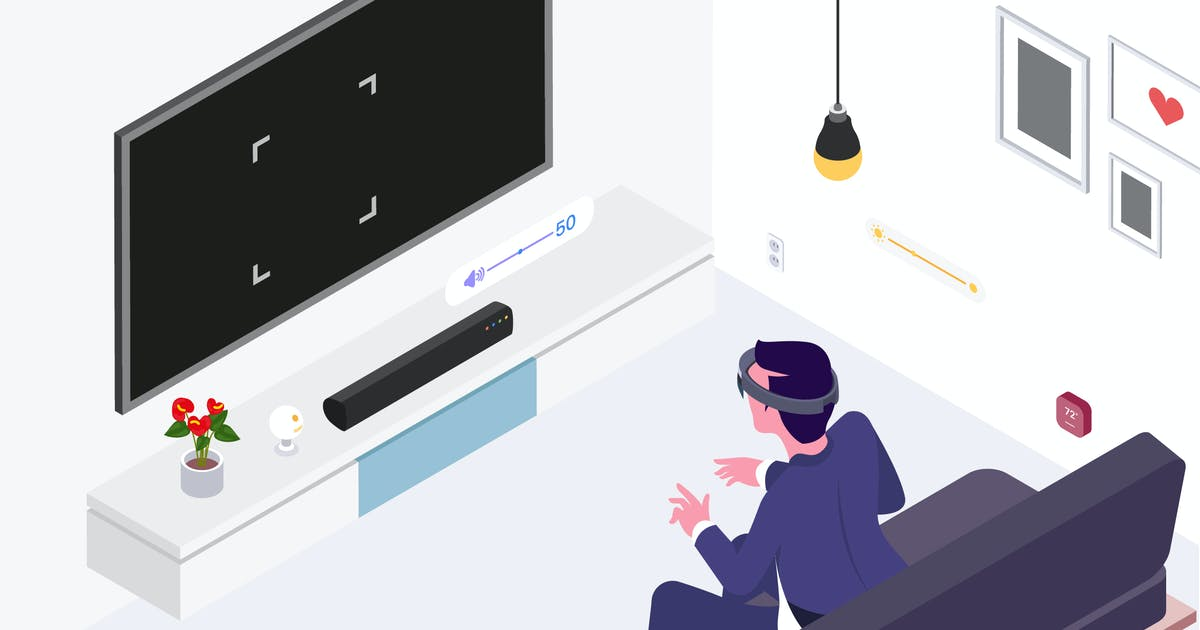 Smart Things with VR AR Isometric Illustration by angelbi88