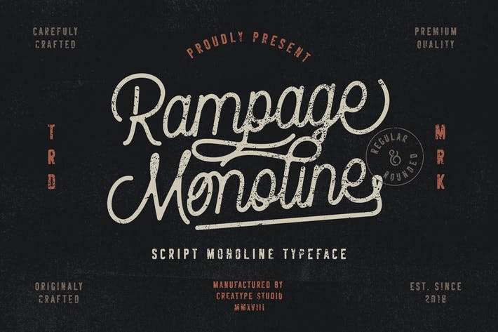 Thumbnail for Rampage Monoline Script