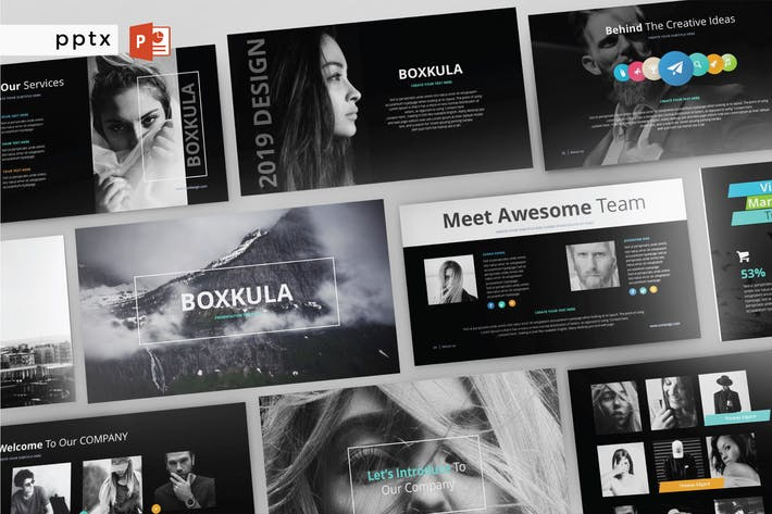 Thumbnail for BOXKULA - Powerpoint Template V141