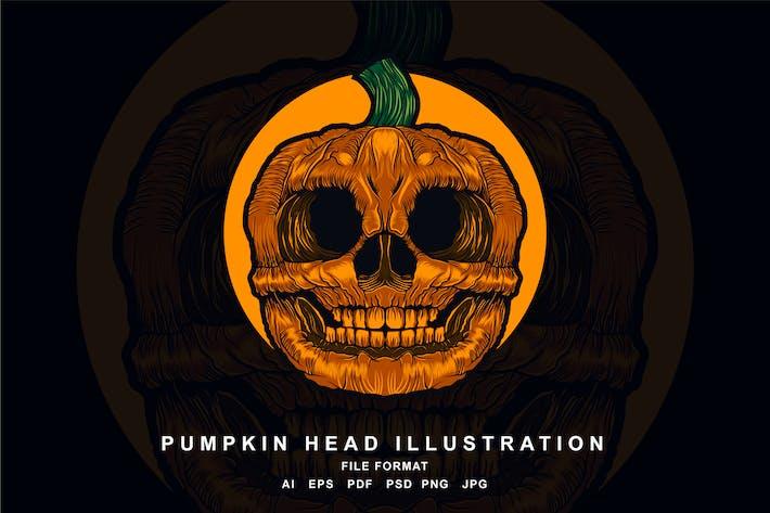 Thumbnail for Pumpkin Head Illustration