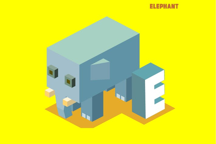 Thumbnail for E for elephant, Animal Alphabet