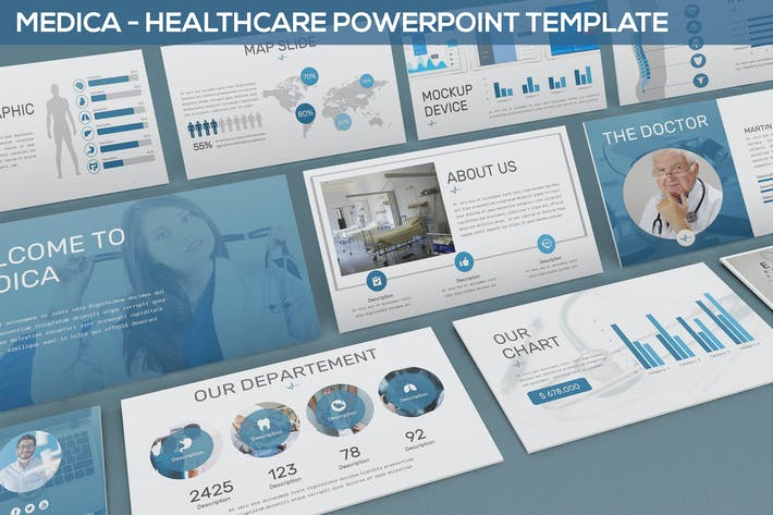 Thumbnail for Medica - Healthcare Powerpoint Template