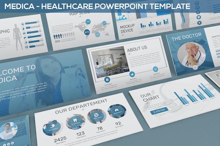 Медика - Шаблон Powerpoint для здравоохранения