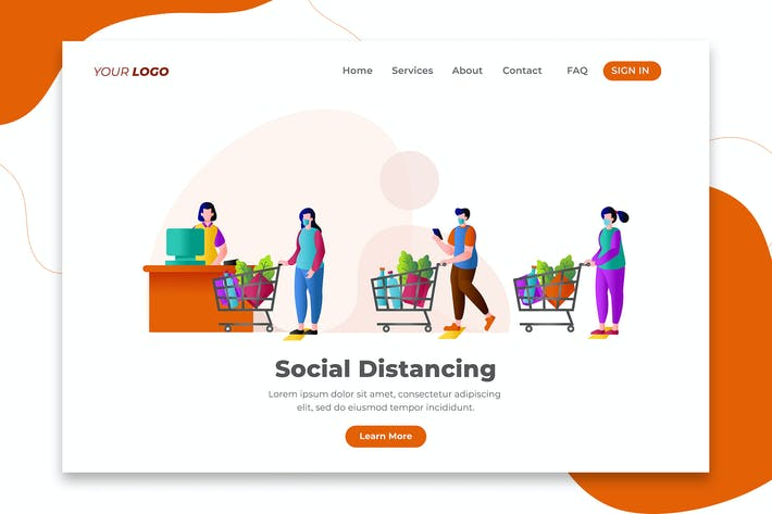 Thumbnail for Customers Maintain Social Distance - Landing Page