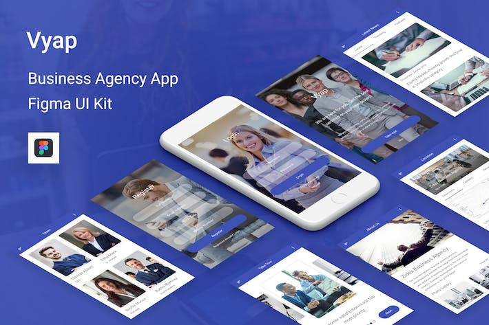 Thumbnail for Vyap - Business Agency UI Kit for Figma