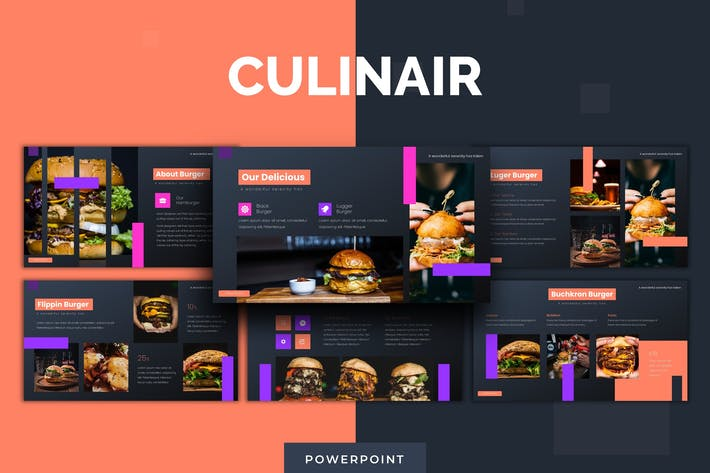 Thumbnail for Culinair - Powerpoint Template