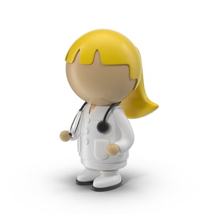 Dibujos animados Mujer Doctor