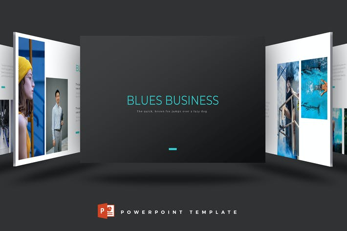 Thumbnail for Blues - Powerpoint Template
