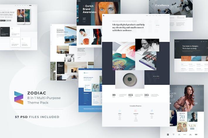 Thumbnail for Zodiac - Multi-Purpose PSD Template