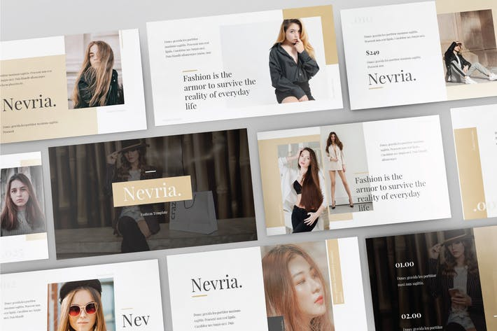 Thumbnail for NEVRIA - Multipurpose Powerpoint Template  V104