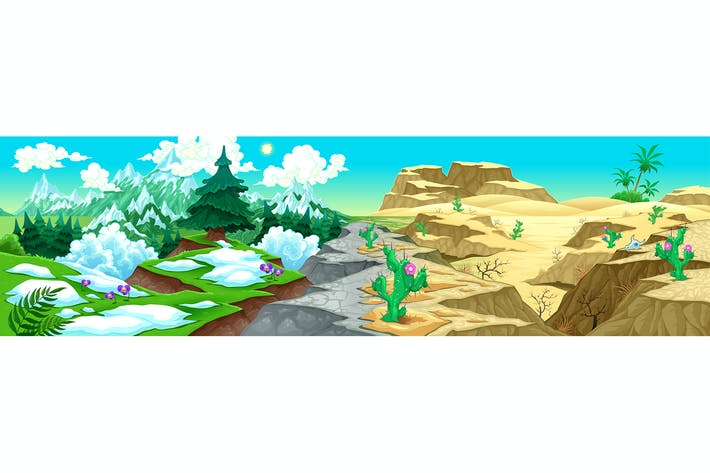 Thumbnail for View on Mountains and Desert