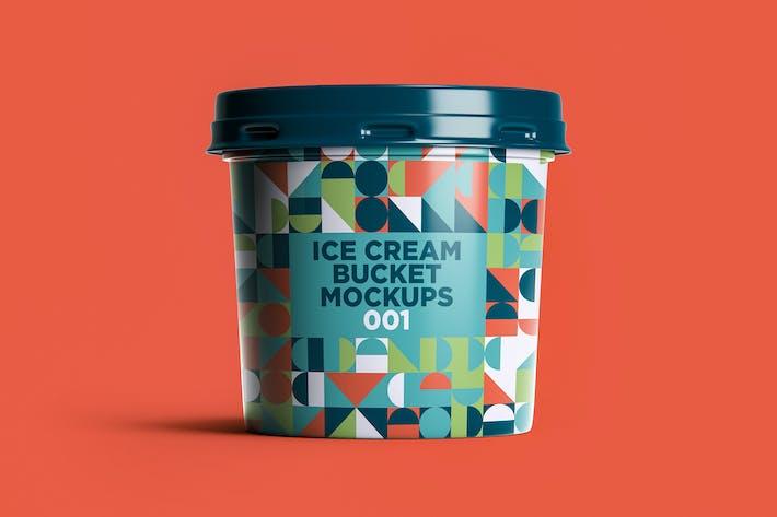 Thumbnail for Ice Cream Bucket Mockups 001