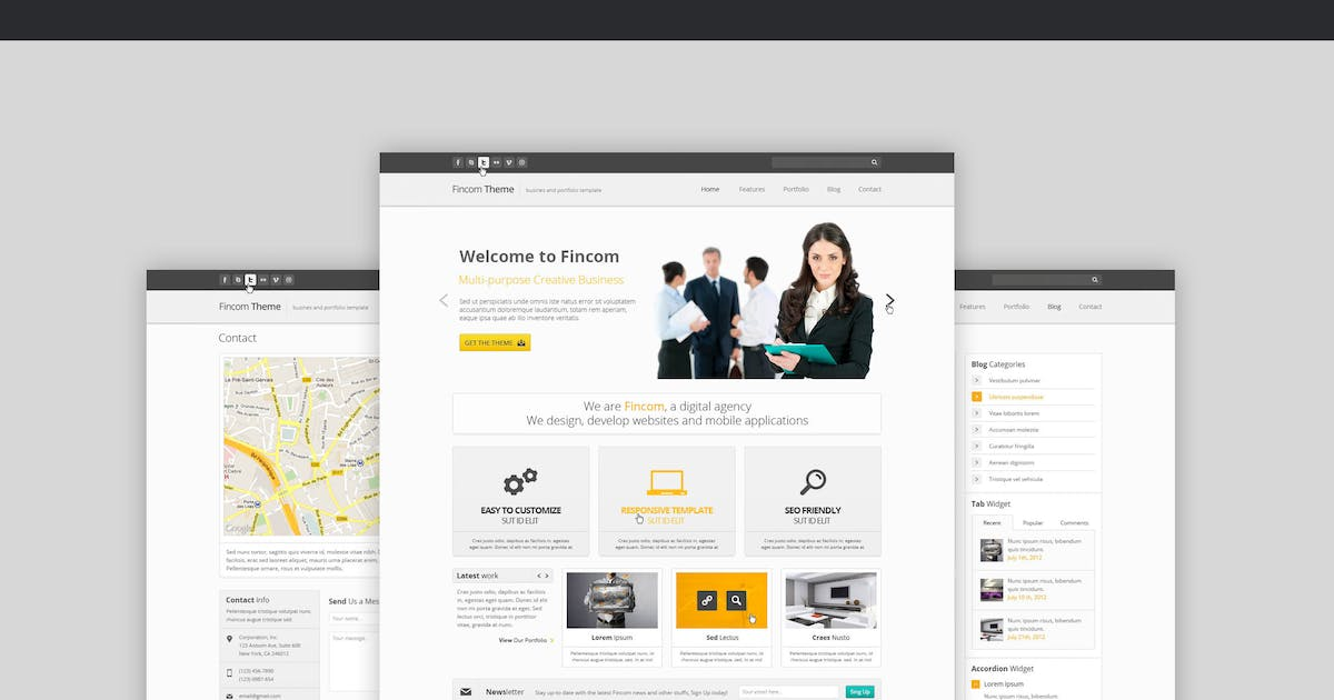 Download Fincom – Business PSD Template by Unknow