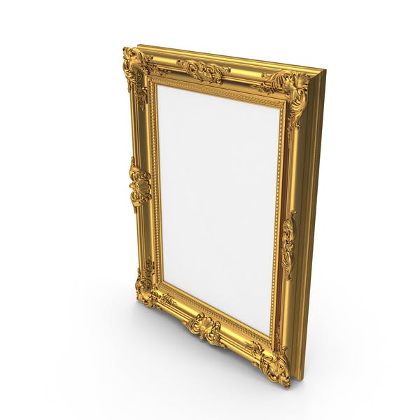 Thumbnail for Golden Glossy Picture Frame