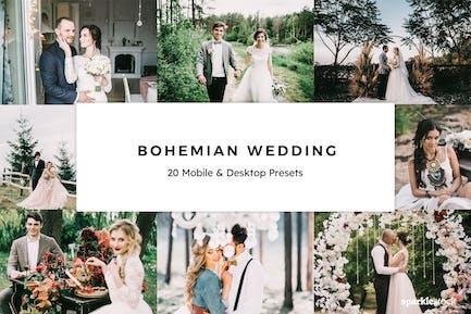 20 Bohemian Wedding Lightroom Presets & LUTs