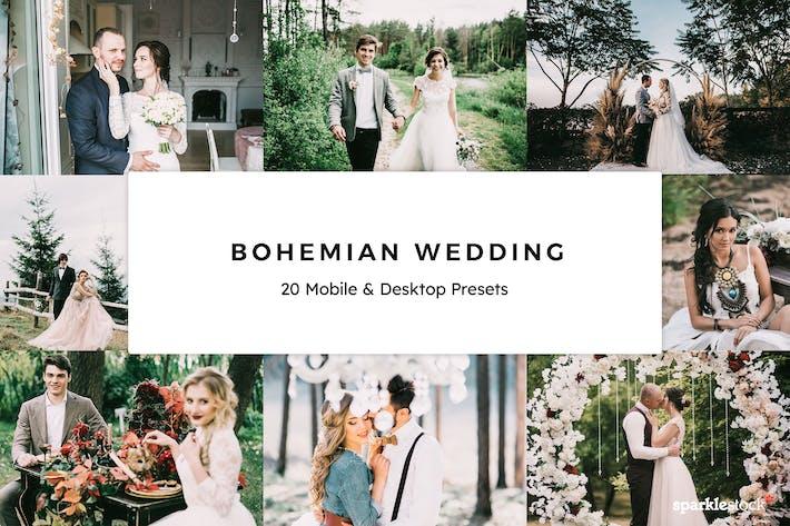 Thumbnail for 20 Bohemian Wedding Lightroom Presets & LUTs