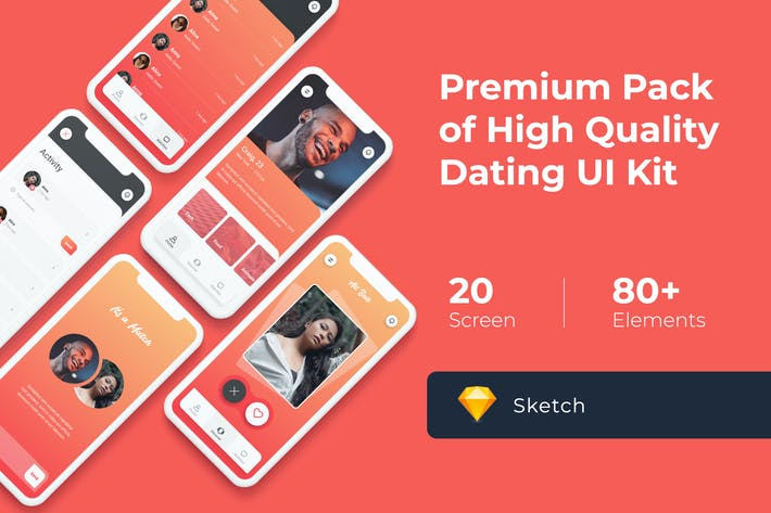 Thumbnail for Dating Mobile UI KIT for Sketch