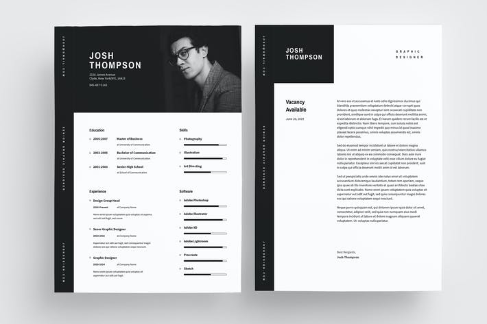 Cover Image For Minimal Resume Template