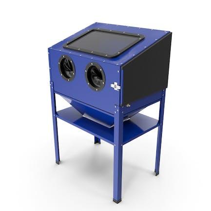 Sandblast Cabinet Blue