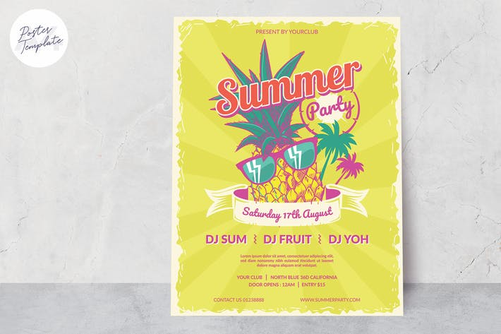 Thumbnail for Summer Poster Template #4