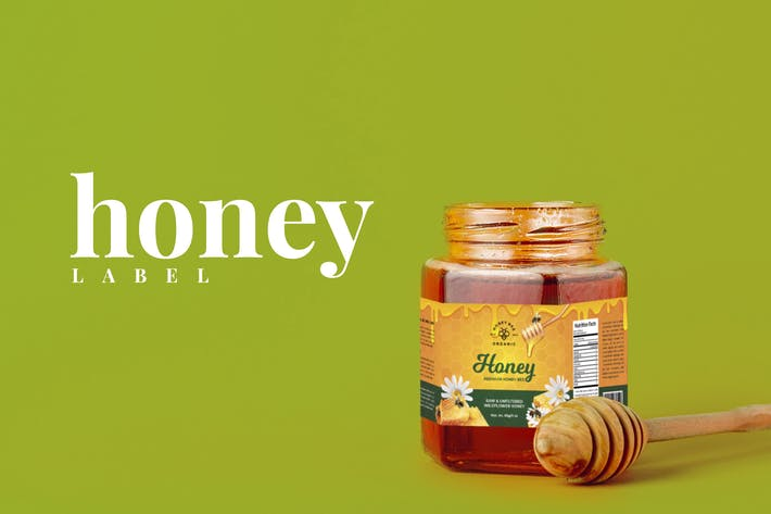 Thumbnail for Honey Jar Lable Design