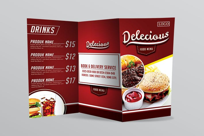 Thumbnail for Delecious food menu flyer