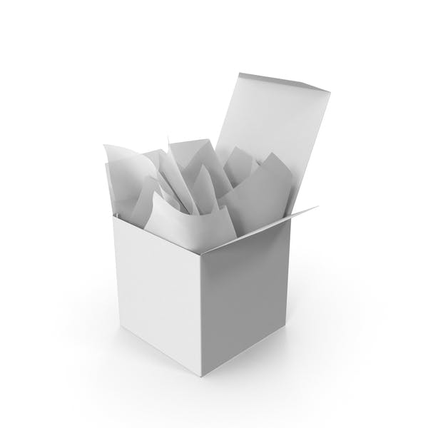 Thumbnail for Квадратная упаковка с белой подарочной бумагой