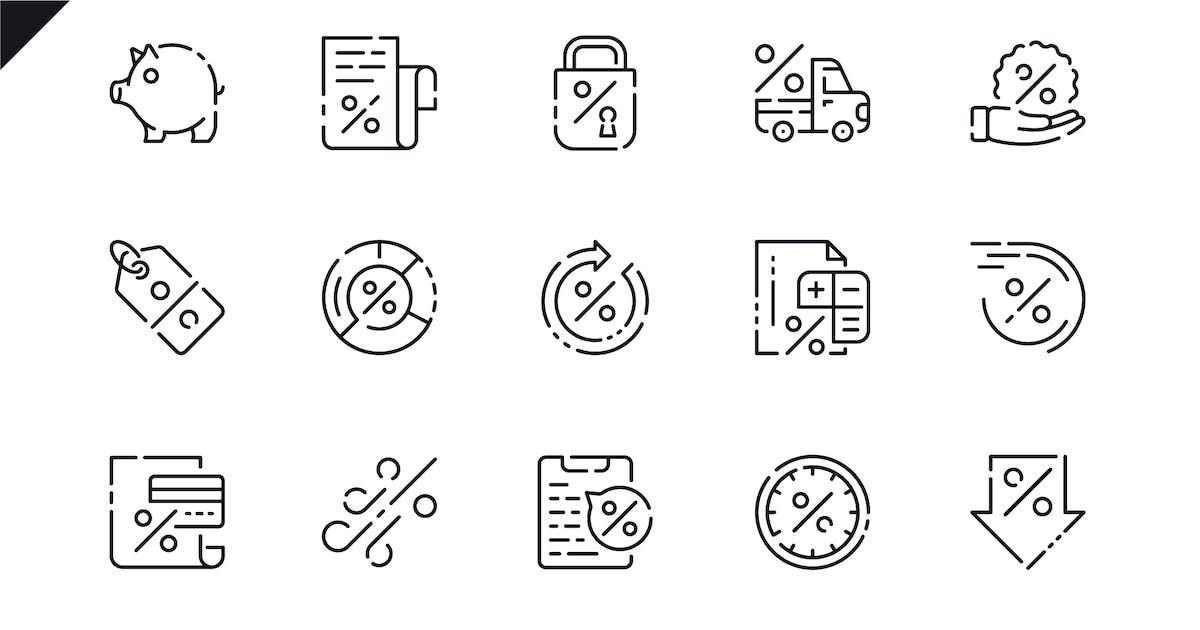 Download Simple Set Loan Line Icons by alexdndz