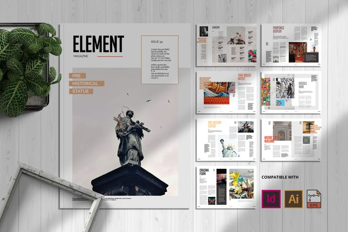 Cover Image For Element | Magazine Template