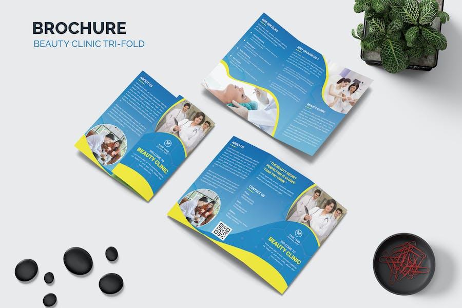 Beauty clinic Trifold Brochure