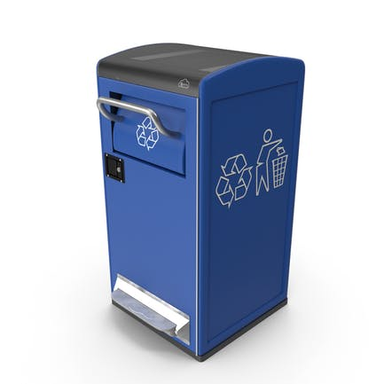 Modern Solar Recycling Bin