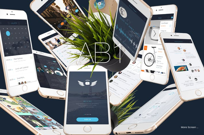Thumbnail for AB1 Mobile UI Kit