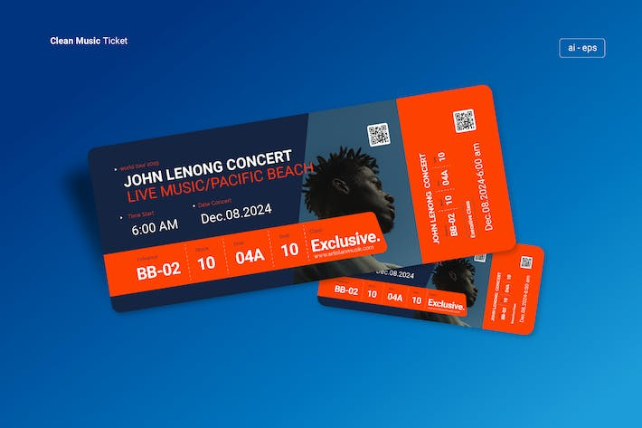Thumbnail for Music TIcket design