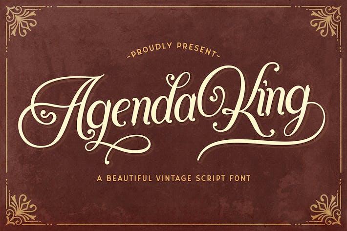 Thumbnail for Agenda King - Fuente de escritura vintage