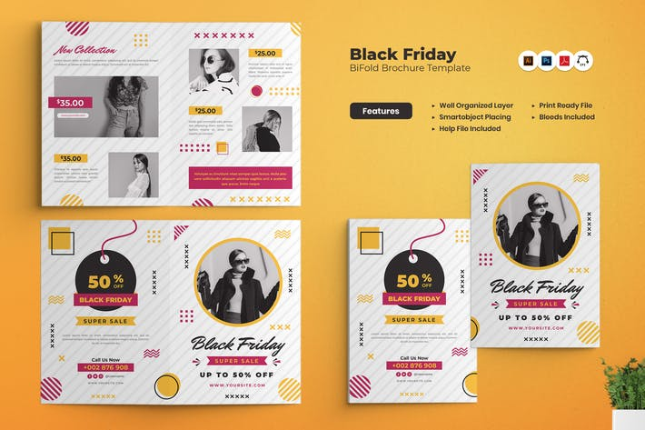 Black Friday Sale Bifold Brochure