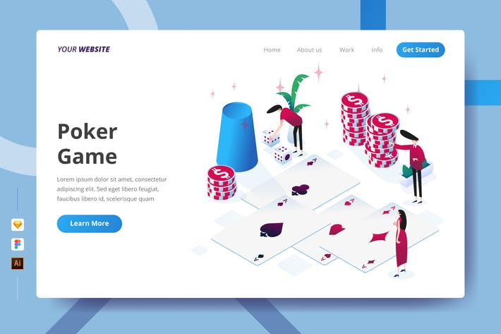 Thumbnail for Poker Game - Landing Page