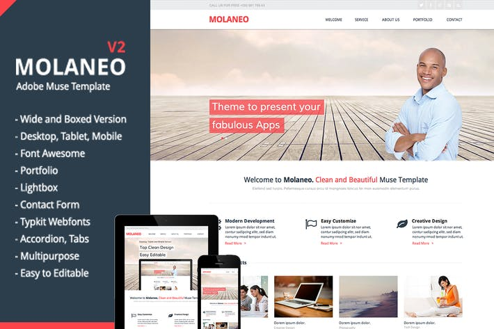 Thumbnail for Molaneo - Multi-Purpose Muse Template
